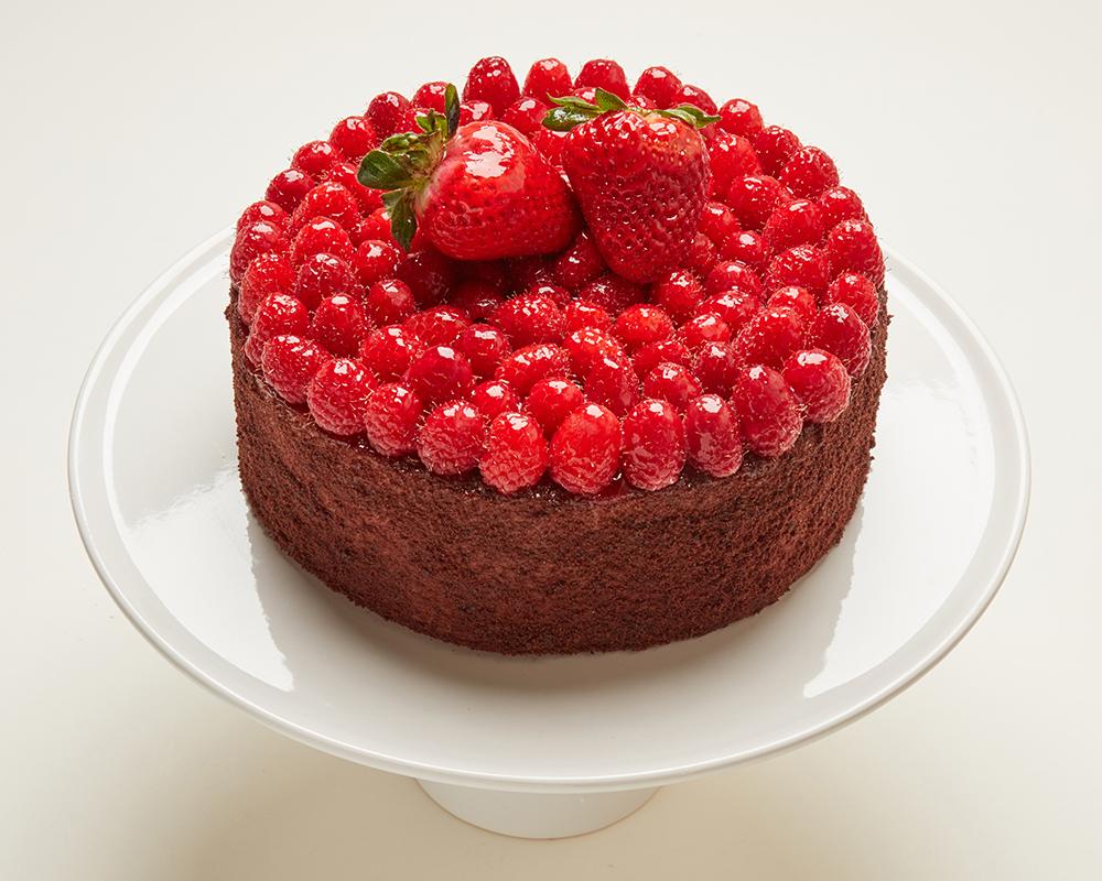 Chocolate Raspberry Truffle Cake