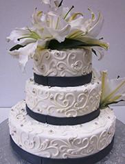 Custom Tiered Wedding Cake San Francisco
