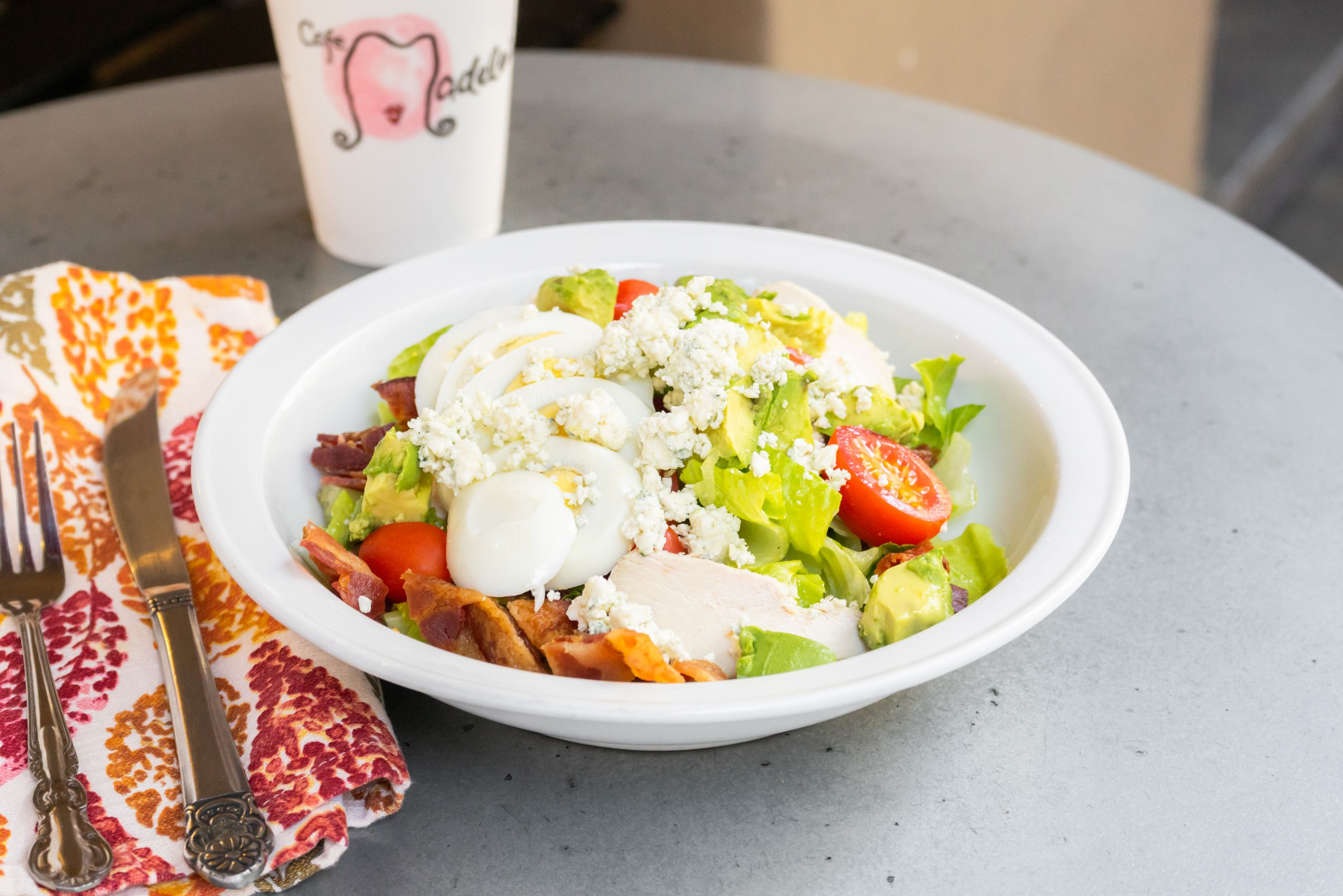Cobb Salad at Cafe Madeleine Available for Online Ordering